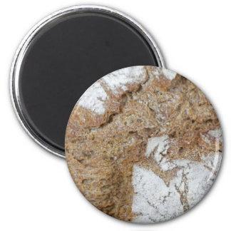 Imã Foto macro da superfície do pão de mistura