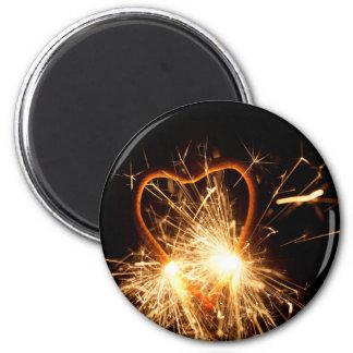 Imã Foto macro de um sparkler ardente no formulário de