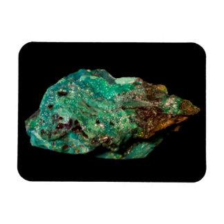 Ímã Foto mineral verde da malaquite no preto