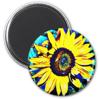 Imã Foto redonda da flor do ímã   do girassol