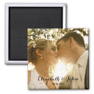 Imã Foto simples do casamento da escrita