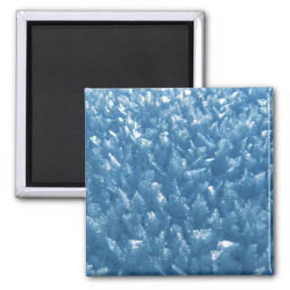 Imã fotografia azul fresca bonita dos cristais de gelo