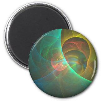 Imã Fractal abstrato colorido