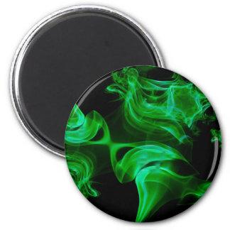 Imã Fractal verde do cetim