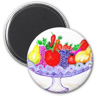 Imã Fruta na arte do vaso