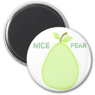 Ímã frutado da pera ímã redondo 5.08cm