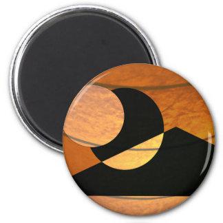 Imã Fulgor dos planetas, preto e cobre, design gráfico