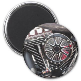 Imã Fundo cromado motocicleta do detalhe do motor