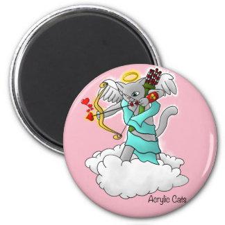 Imã Gato cinzento do Cupido de Smokey do dia dos