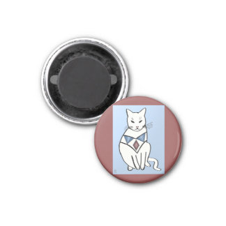 Imã Gato com colar do diamante