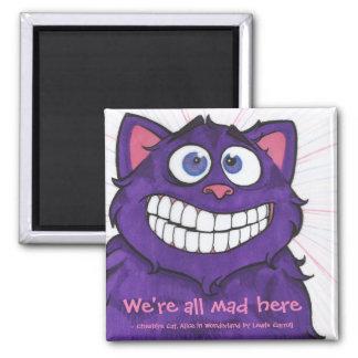 Imã Gato de Cheshire com ímã das citações