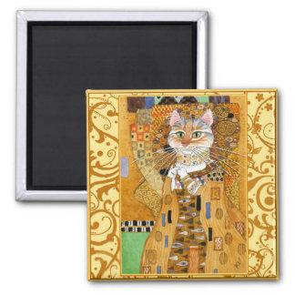 Imã Gato de Gustavo Klimt no ímã da paródia do ouro