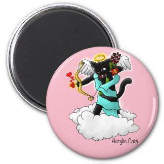 Imã Gato do Cupido do preto de carvão do dia dos