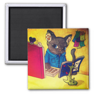Imã Gato do escritor do racum de Maine por gatos