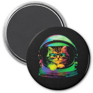 Imã Gato do hipster - astronauta do gato - espace o