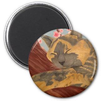 Imã Gato do sono da flor de cerejeira