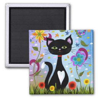 Imã Gato em uma arte abstracta do jardim