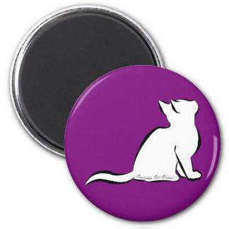 Imã Gato preto, suficiência branca, texto interno