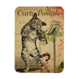 Ímã Gato & violino de Postale | do carte do tema | do
