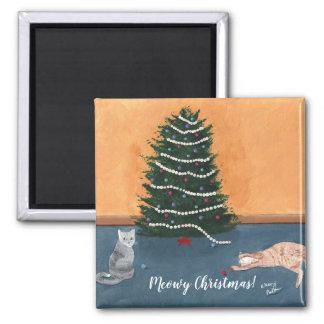 Imã Gatos brincalhão por ímãs da árvore de Natal