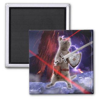 Imã gatos do guerreiro - gato do cavaleiro - laser do