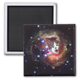 Imã Gatos LOL do espaço da galáxia ímã do quadrado de