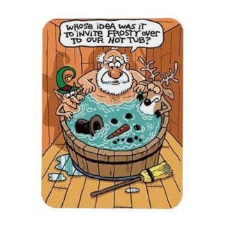 Ímã Gelado em uma banheira de hidromassagem