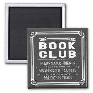 Imã Giz da tipografia do clube de leitura do vintage