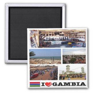 Imã GM - Gambia - amor de I - mosaico da colagem