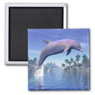 Imã Golfinho nos trópicos - 3D rendem