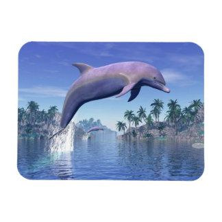 Ímã Golfinho nos trópicos - 3D rendem