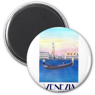 Imã Gôndola de Veneza Italia no canal grande com San