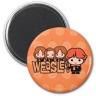 Imã Gráfico de Weasley Siblilings dos desenhos