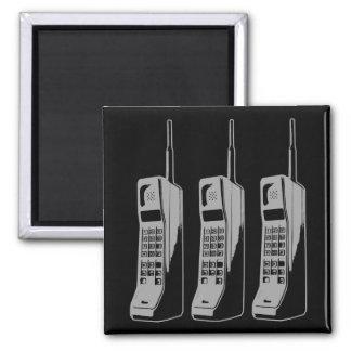 Imã Gráfico retro do telefone móvel