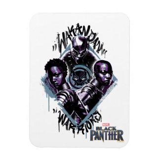 Ímã Grafites dos guerreiros da pantera preta |