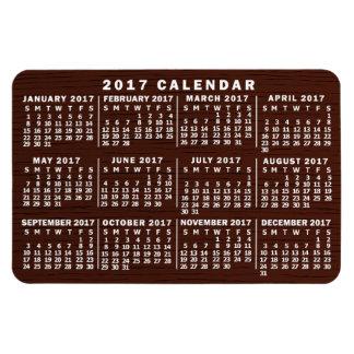 Ímã Grão mensal da madeira de Brown do calendário de
