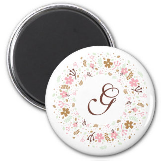 Imã Grinalda floral feminino personalizada do