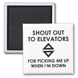 Imã Grito para fora aos elevadores