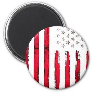 Imã Grunge do vermelho da bandeira americana