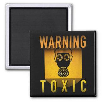 Imã Grunge retro de advertência tóxico da idade