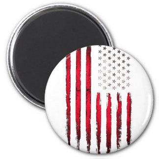 Imã Grunge vermelho novo da bandeira americana
