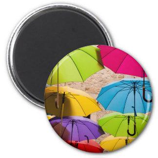 Imã Guarda-chuvas coloridos