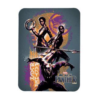 Ímã Guerreiros da pantera preta | Wakandan pintados