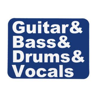 Ímã Guitar&Bass&Drums&Vocals (branco)