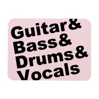Ímã Guitar&Bass&Drums&Vocals (preto)
