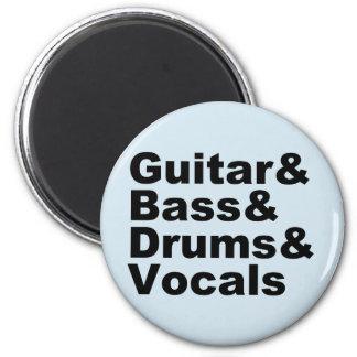 Imã Guitar&Bass&Drums&Vocals (preto)