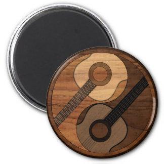 Imã Guitarra acústica Yin Yang do olhar de madeira