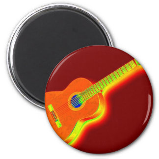 Imã Guitarra clássica do pop art