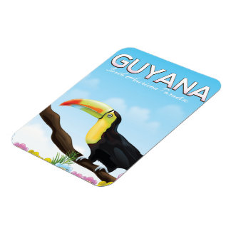 Ímã Guyana sul - poster de viagens americano do