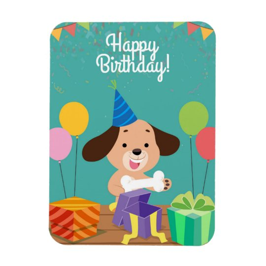 Ímã Happy birthday of the dog